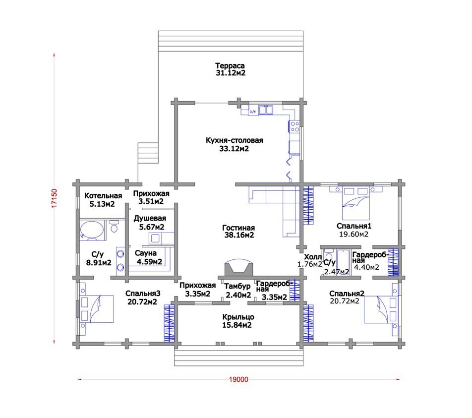 План дома одноэтажного
