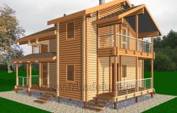 Проект дома из клееного бруса «Залив 80»
