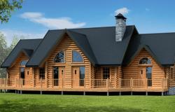 Современный дом из клееного бруса «Хани Крик»