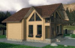 Проект семейного дома из клееного бруса «Оклэнд»