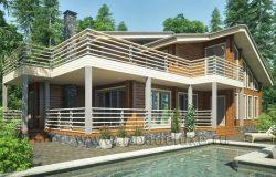 Проект дома-бани «Евгения»