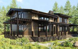 Дом из клееного бруса «Селена»