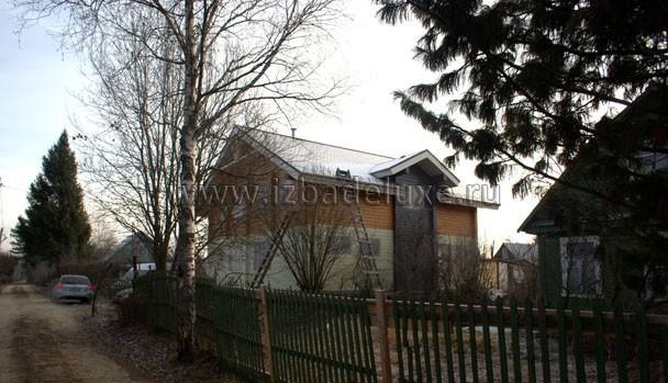 Строительство дома из клееного бруса по проекту Ностальгия.
