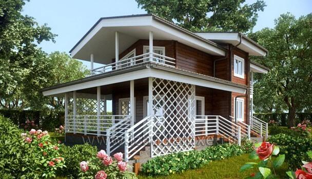 Дачный домик из клееного бруса Лавинья