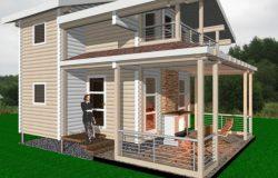 Проект гостевого дома из клееного бруса