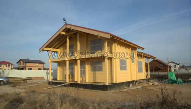 Строительство дома из клееного бруса Зимняя сказка-12 в Чехове.