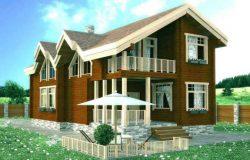 Проект дома из клееного бруса «Благовещенка»