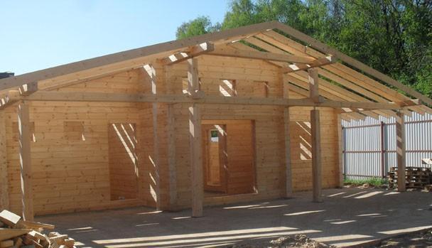 Закончилась сборка домокомплекта на объекте «Гостевой дом — баня в Барвихе».