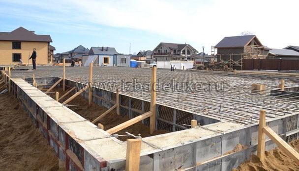 Строительство дома из клееного бруса на объекте Жедочи.