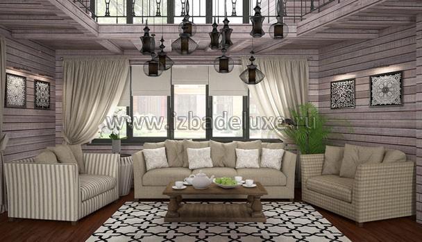 Интерьер дома из клееного бруса «Чеховская усадьба».