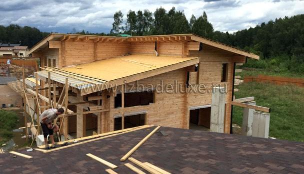С крыши дома на крышу спа.