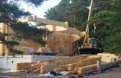 В одном домокомплекте используются 3 типа дерева.