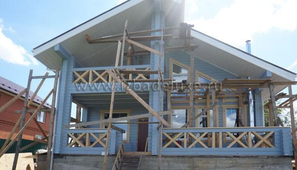 Строительство дома по проекту Зимняя Сказка-8