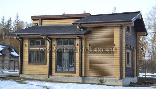 Строительство гостевого дома из клееного бруса на объекте Чубарово