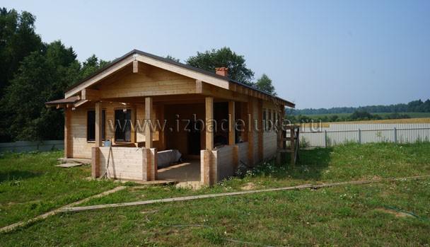 Строительство бани из клееного бруса по проекту «Красавица».