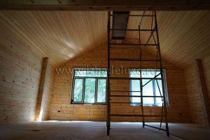 чистовая подшивка потолков лиственницей