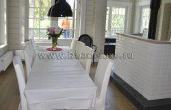 Обеденная часть гостиной. Все фотографии размещены с разрешения Хозяев дома.