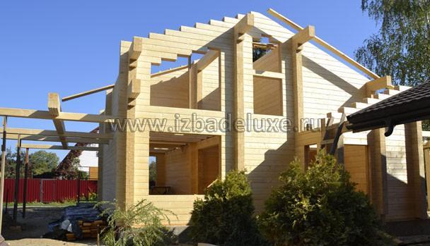 Строительство деревянного дома в Можайском районе на объекте «Васильки».