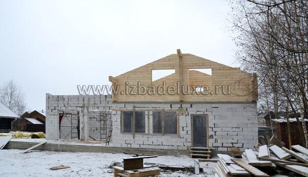 Строительство комплекса зданий из клееного бруса на объекте «Аистово».