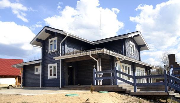 Строительство дома из комбинированного бруса на объекте Селигер
