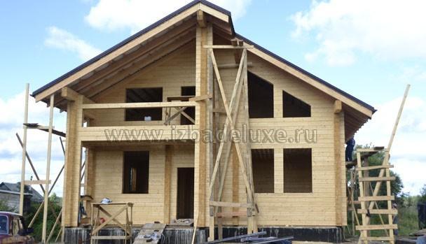 Строительство дома из клееного бруса по проекту Зимняя сказка-10