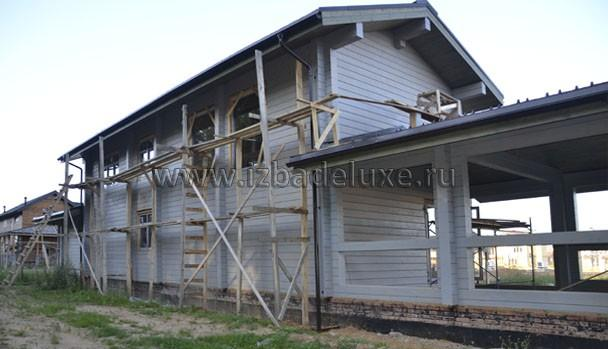 Строительство гостевого дома- бани из клееного бруса по проекту «Свобода-2»