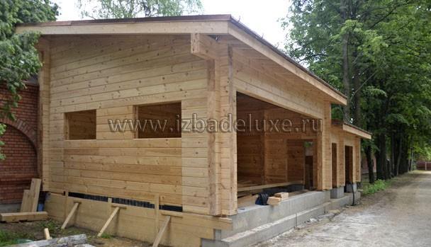 Строительство гаража из клееного бруса — объект Редькино.