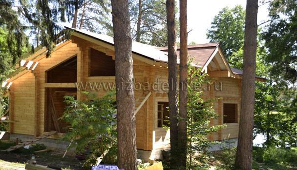 Кстати, дом очень оптимизирован по расходу бруса на квадратный метр строения.