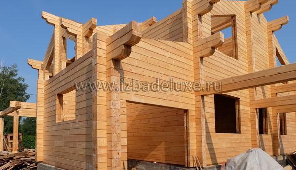 Строительство дома из клееного бруса по индивидуальному проекту «Новомосковск».