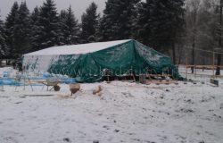 Палатки для работ и прогрева.