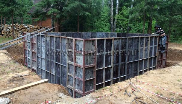 Теперь армирование и ждем бетон.