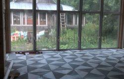 Очень мне нравится решение по плитке гостиной!