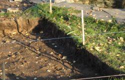Снятие плодородного грунта.