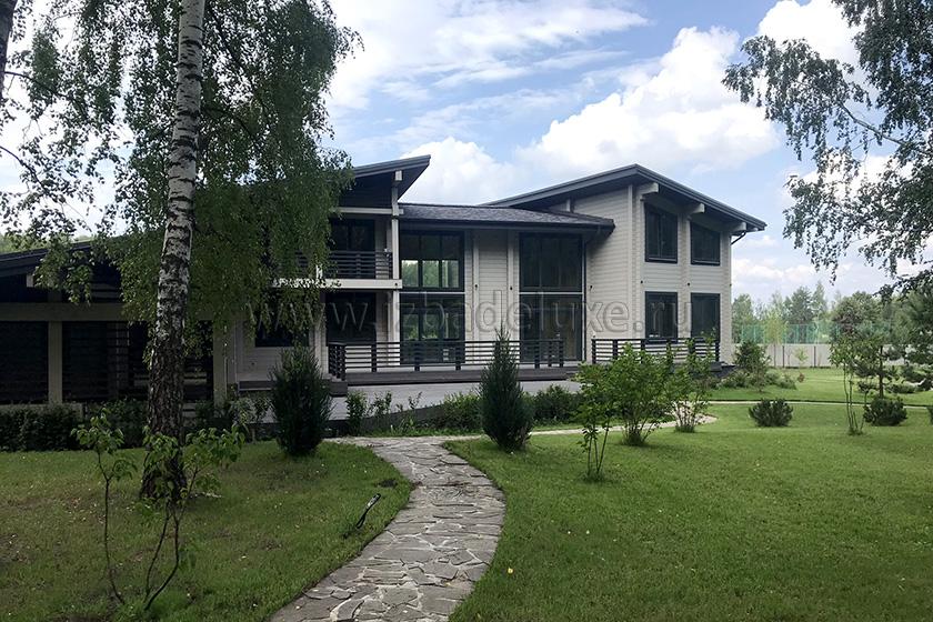 Строительство загородного дома по проекту Чеховская усадьба - 612,46кв.м