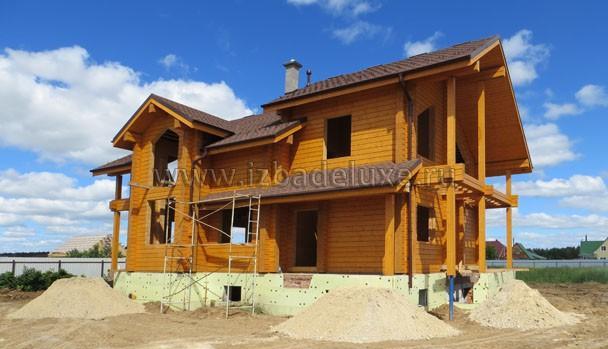 Строительство дома из клееного бруса по проекту Косилия
