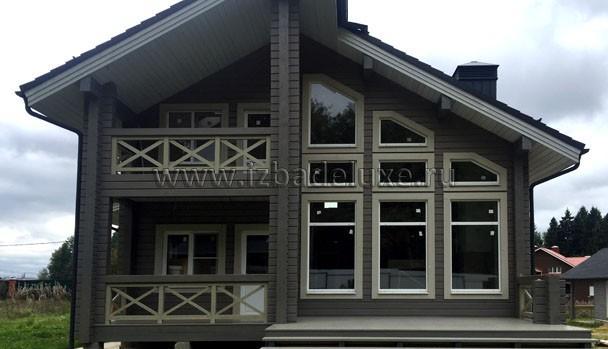 Строительство дома из клееного бруса по проекту Зимняя сказка-9