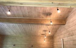 Внутри тоже уже есть свет! Теперь ждем необыкновенной красоты световые приборы :)