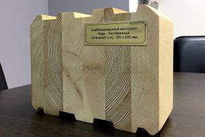 комбинированный клееный брус лиственница-кедр