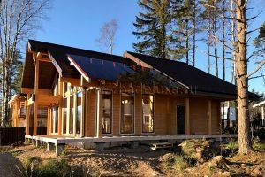 строительство дома из клееного бруса в Ленинградской области