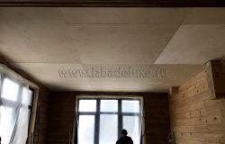 Потолки готовы под чистовое покрытие.