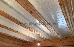 Вот так будет потолок с видимыми балками.