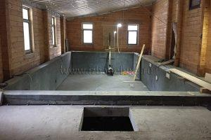 Бассейн в дома из клееного бруса