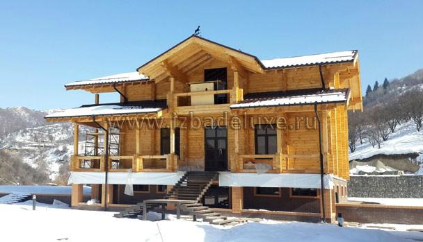 Строительство дома из клееного бруса в Казахстане по проекту «Алматы»
