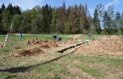 Фундамент цоколь, ростверк и плита перекрытия сверху. Наш классический фундамент уже 10 лет. :)