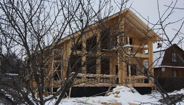 Строительство дома из клееного бруса по проекту Зимняя Сказка-6