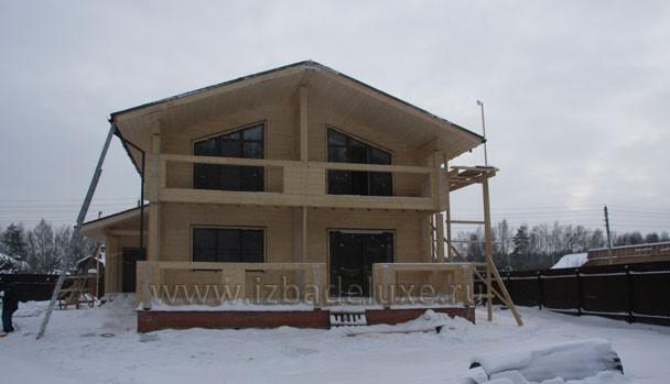 Строительство дома из клееного бруса по проекту «Созвездие-2»
