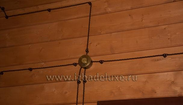 А у нас тут электрика под старину. Красиво.