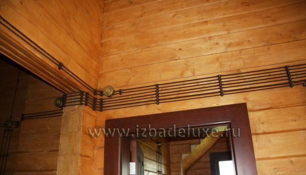 Ретро-проводка в деревянном доме.