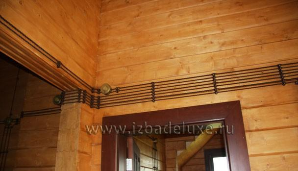ретро электрика в деревянном доме фото