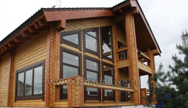Еще фото фасада дома из клееного бруса